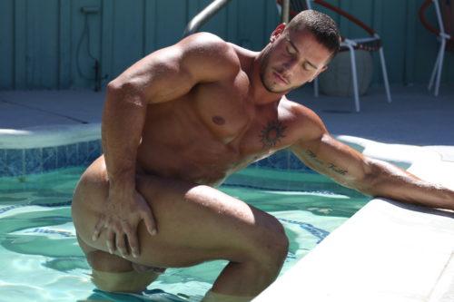 bodybuilder butt naked